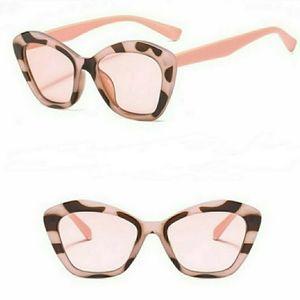 Pink Leopard Cat Eye Sunglasses